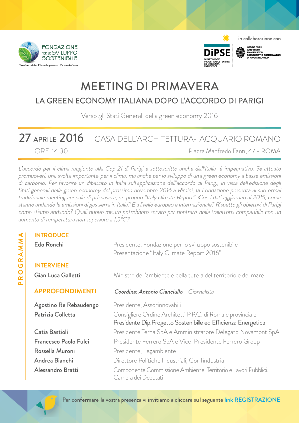 programma meeting di primavera 2016
