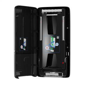 Tork PeakServe (R) dispenser nero aperto 01